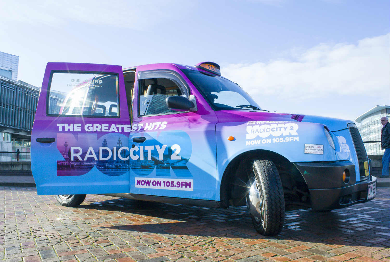 radio city taxi advertising campaign in liverpool