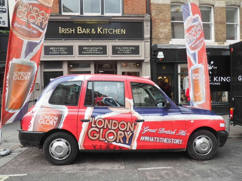 london glory greene king full livery taxi