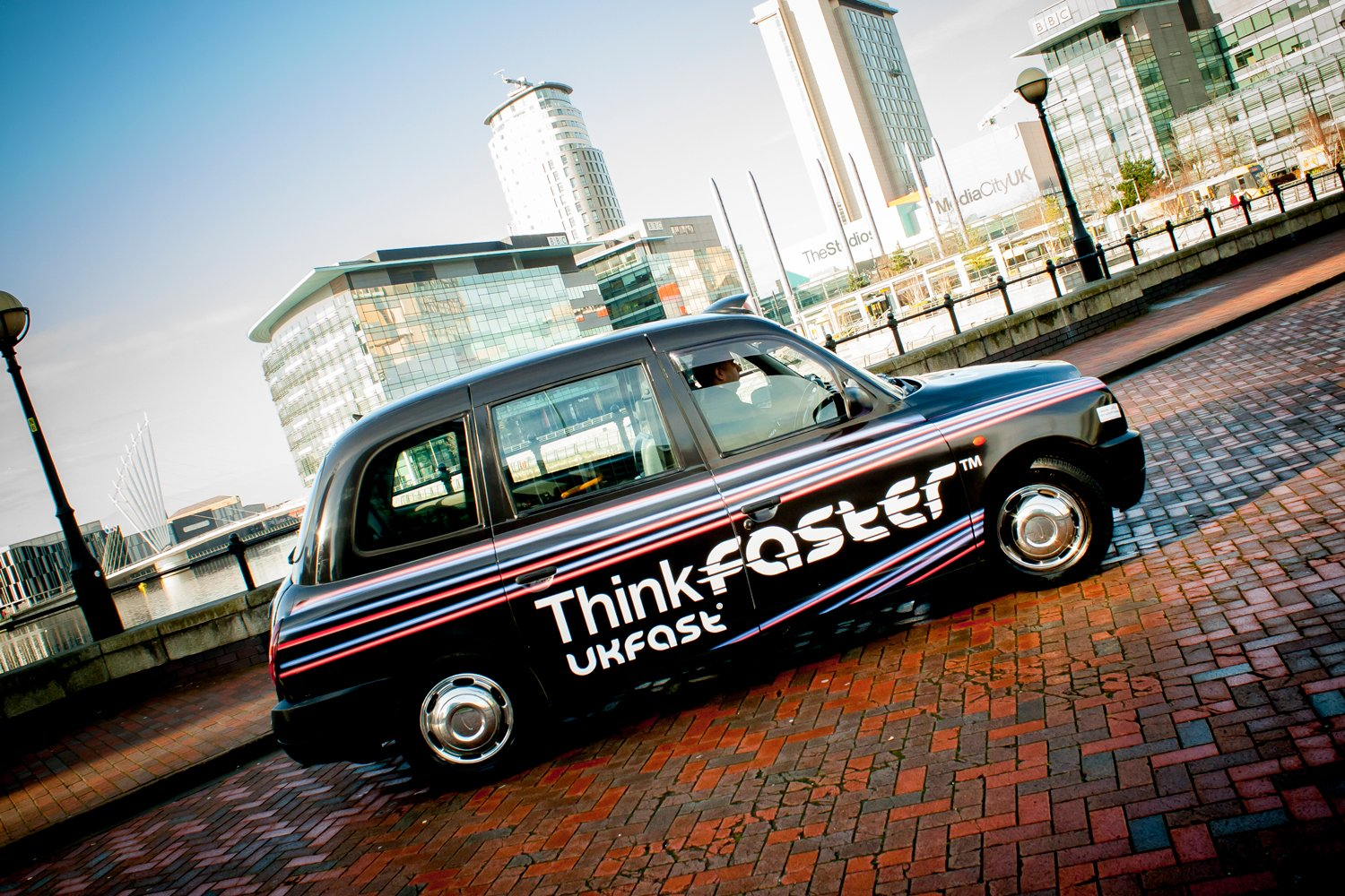 Uk Fast Taxi advertising campaign in manchester