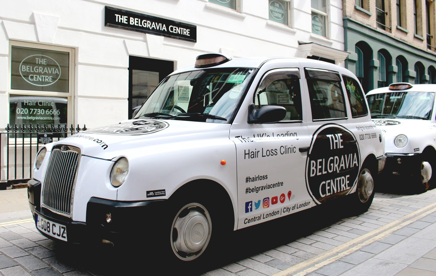 The belgravia centre taxi advertising